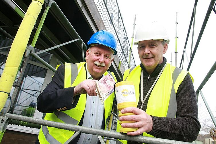 BCR managing director Phil Wood and Hospice Head of Facilities Kenneth Snell check out the repairs.jpg